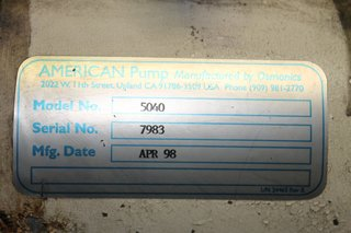 "image for: American Pump Co. Diaphragm Pump Model 5040 Size 1"" x 1"""