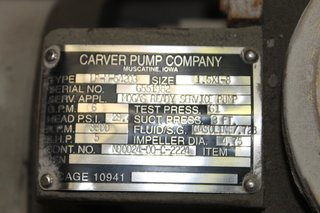 image for: Carver Centrifugal Pump Type LP-M-54203 Size 1.5 x 1-8