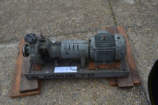 "Duriron Co Model PP-3116 A Centrifugal Pump, RPM 3600, 1 1/2"" x1"", HP 5,  durco"
