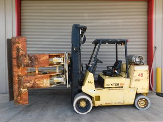 image for: Hyster LP Gas Propane Forklift S120 W/ Cascade Paper Roll Clamp 5850# Capacity 3 Stage #48
