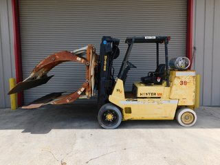 Hyster LP Gas Propane Forklift S120 W/ Cascade Paper Roll Clamp 6000# Capacity 3 Stage  #38