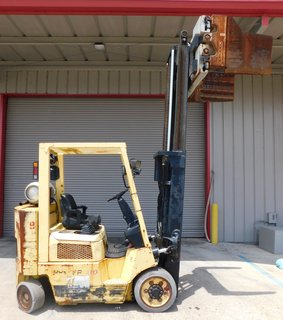 "image for: Hyster LP Gas Propane Forklift S80 6450# Capacity 14"" Cascade Pulp Bale Clamp  #9"