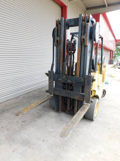 "image for: Hyster LP Gas Propane Forklift S80, 8000# Capacity 3 Stage 42"" Forks #138"