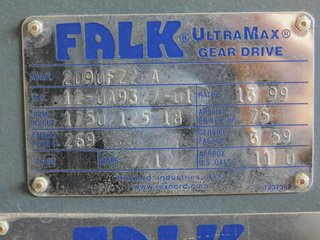 image for: NEW Falk UltraMax Gear Drive Box 1750/125 RPM, 13.99:1 Ratio, 75 HP, 2090FZ2BA