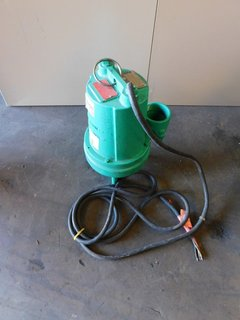 image for: Peabody Barnes 3SE-56 Submersible Sump Sewage / Water Pump 1/2 HP 460V