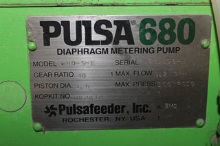 image for: Pulsafeeder 680 Diaphragm Metering Pump 40:1 Gear Ratio 9.2 GPH Pulsa