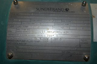 "image for: Sundstrand 1 1/2"" X 2"" X 198.12mm Model HN23D-S3NHT-01D1 Can Pump"