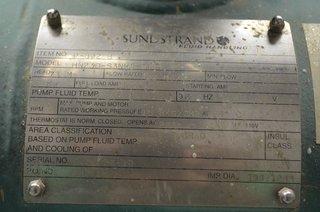 "image for: Sundstrand 1 1/2"" X 2"" X 198.12mm Model HN23D-S3NHT-01D1 96 GPM Can Pump"
