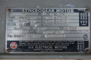 image for: U.S. Electric Syncro Gear Motor/Gear Combination